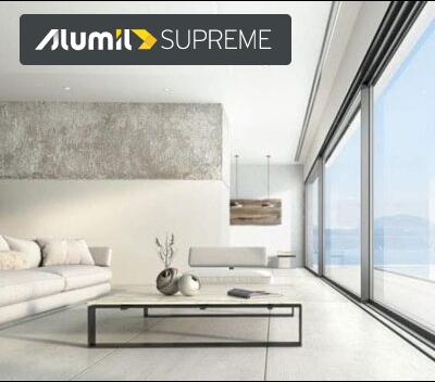 Minimal συρόμενο θερμομονωτικό σύστημα SUPREME S650 PHOS alumil aluminal, SUPREME S650 PHOS